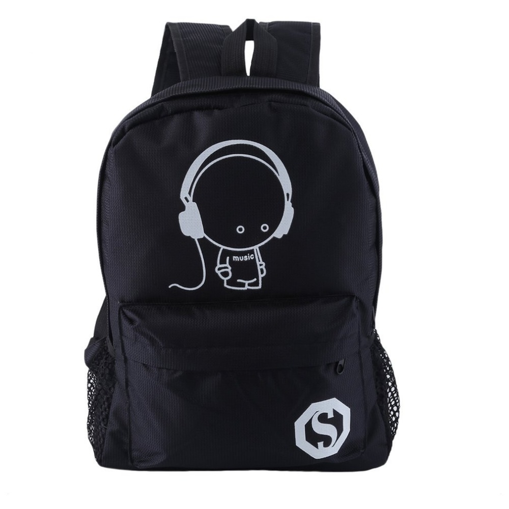 Luminous Backpacks Waterproof Women Cartoon Daily College Sepatu Anak Slip On Lighting Mickey Hitam Big Student Bookbags Reflective Bagpack For Girls School Bags In From Luggage