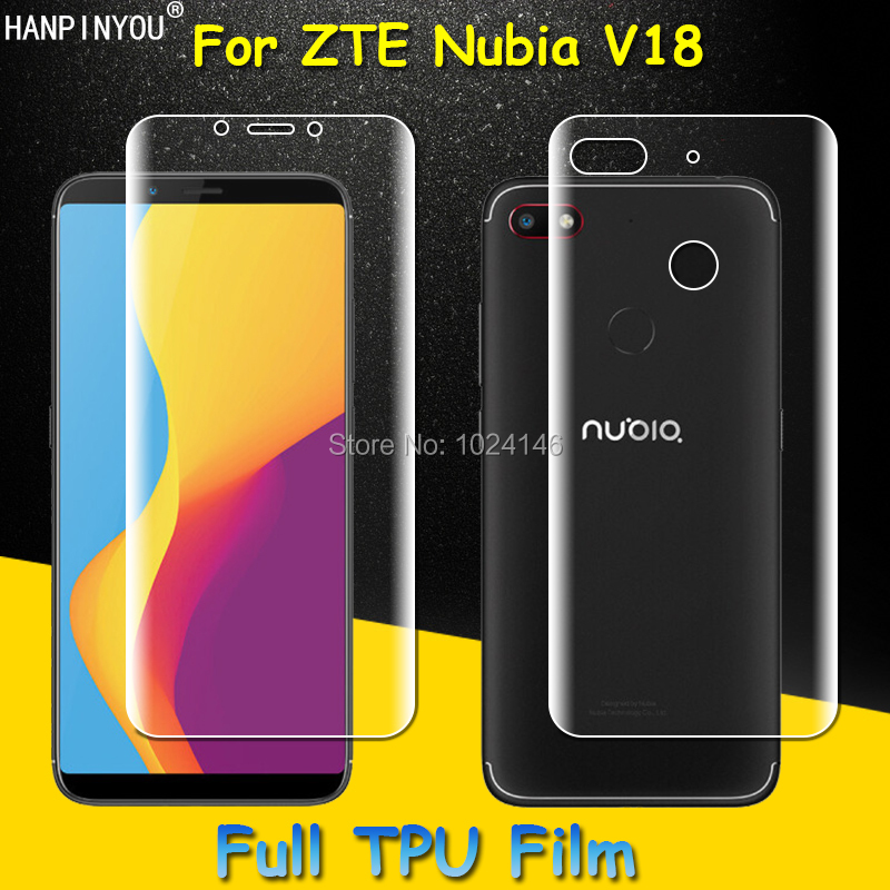 Front / Back Full Coverage Clear Soft TPU Film Screen Protector For ZTE Nubia V18 6.0 , Cover Curved Parts (Not Tempered Glass)