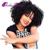 Aisha Queen Kinky Curly Full Lace Human Hair Wigs Brazilian Remy Hair Straight For Black Women Bleached Knots Ombre Wig