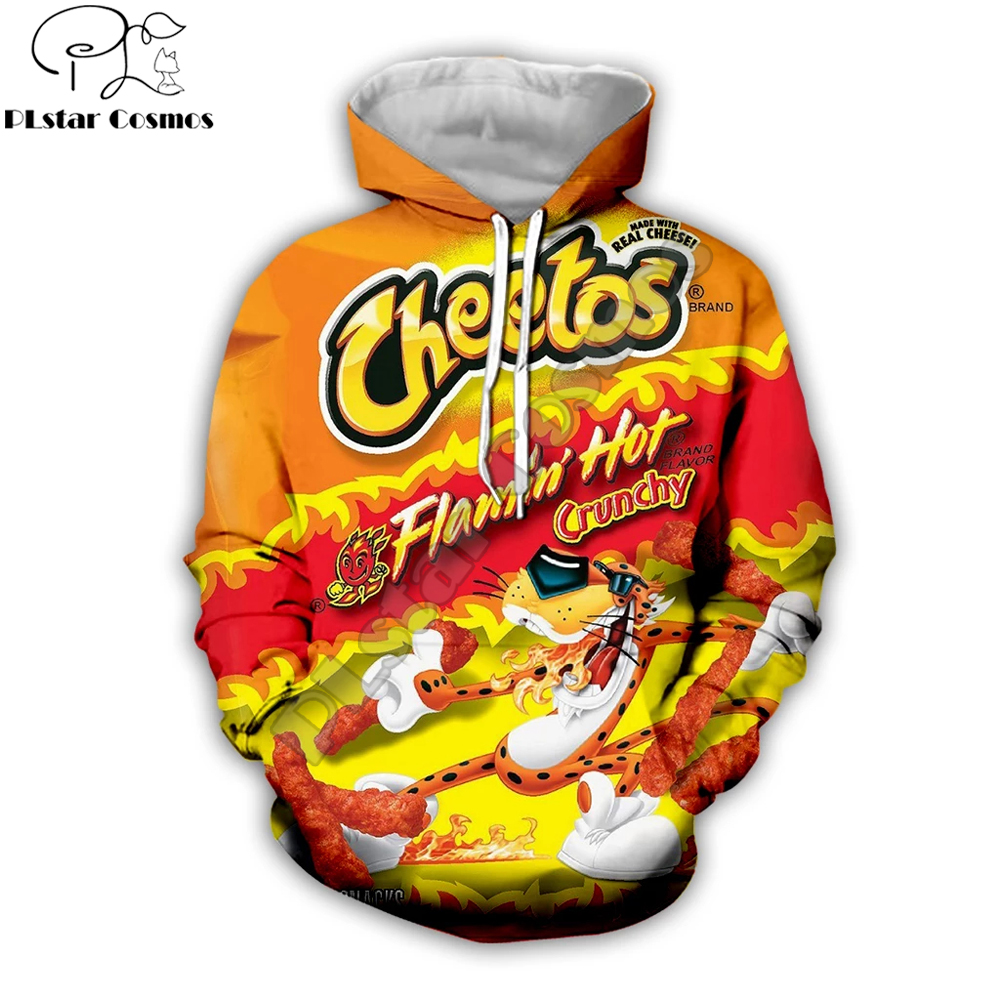 2019 Fashion Harajuku Hoodies Good Food Cheetos 3D All Over Printed For Men&Women Streetwear Hoodie/Sweatshirt