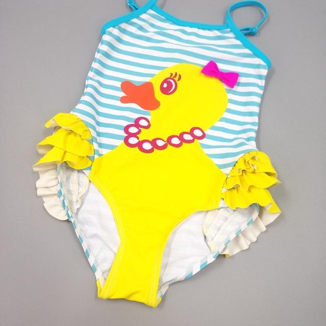 2-8T Baby Girls Swimwear Summer Infant Swimsuit Kids bathing suit One Piece Swimming Suit Babe Bath Suit Child Clothing