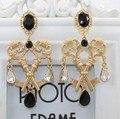 2015 moda brincos jewery chave Dupla cruz pérola Brincos Boate Exagerada palácio retro personalidade Barroco Brinco mulheres