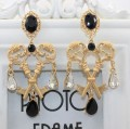 2015fashion earrings jewery Double key cross pearl Earrings Nightclub Exaggerated palace retro personality Baroque Earring women