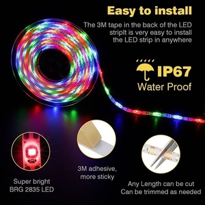 Image 4 - Tira de luz LED alimentada por energía Solar, 5M, 150LED, SMD2835, cinta de iluminación Flexible, 8 modos, impermeable, luz de fondo, decoración de jardín