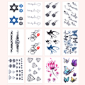 Waterproof Tattoo Paste Temporary Tattoo Stickers For Girls Man Beautiful 16 Styles Tattoo Sticker Body Art Beauty Makeup M02