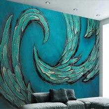 Papel de pared de beibehang para paredes 3 d patrón abstracto azul estilo americano vintage FONDO DE TV papel tapiz de moda para la habitación de los niños