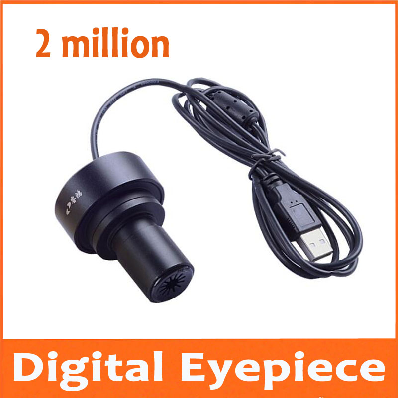 2 million pixels Microscopes electronic eyepiece mobile phone computer can connect to computer or OTG mobile interface 23.2mm цены