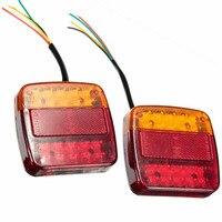 2PCS LED Rear Light Tail Light Brake Stop Light Turn Signal Number Plate Lamp For Trailer