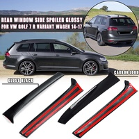 Gloss Black/Carbon Look Rear Window Side Spoiler canard canards Splitter Glossy For VW Golf 7 R Variant Wagen 2014 2015 16 2017
