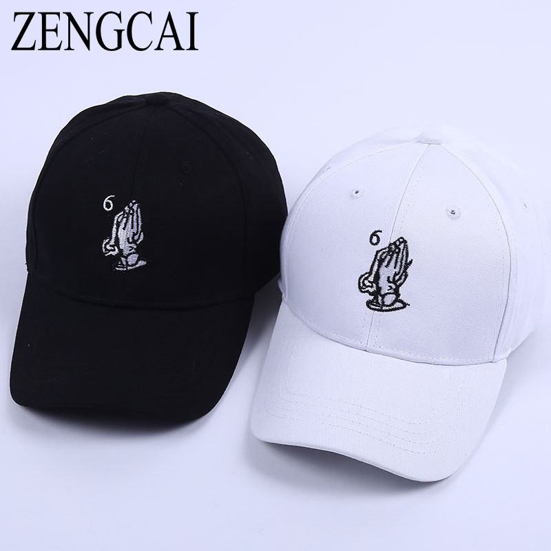 ZENGCAI Cotton Baseball Caps Unisex Couple Snapback Cap Adjustable Solid Color Hats & Caps Women Men Leisure Casual Casquette