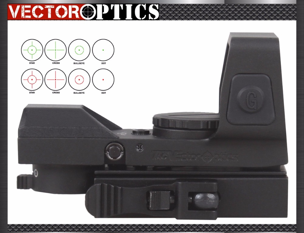 Vector Optics Sable 1x25x34 Tactical Multi Reticle Green Red Dot Sight with QD 20mm Weaver Mount