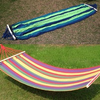 Portable Mat Canvas Hammock Fabric Double Spreader Hammocks Outdoor Camping Swing Hanging Bed 200 X 80cm