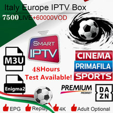 купить 1 Year 7000+Live Europe IPTV French Dutch Spain Portugal UK IPTV Subscription arabic iptv free sports android tv box smart tv pc по цене 669.2 рублей