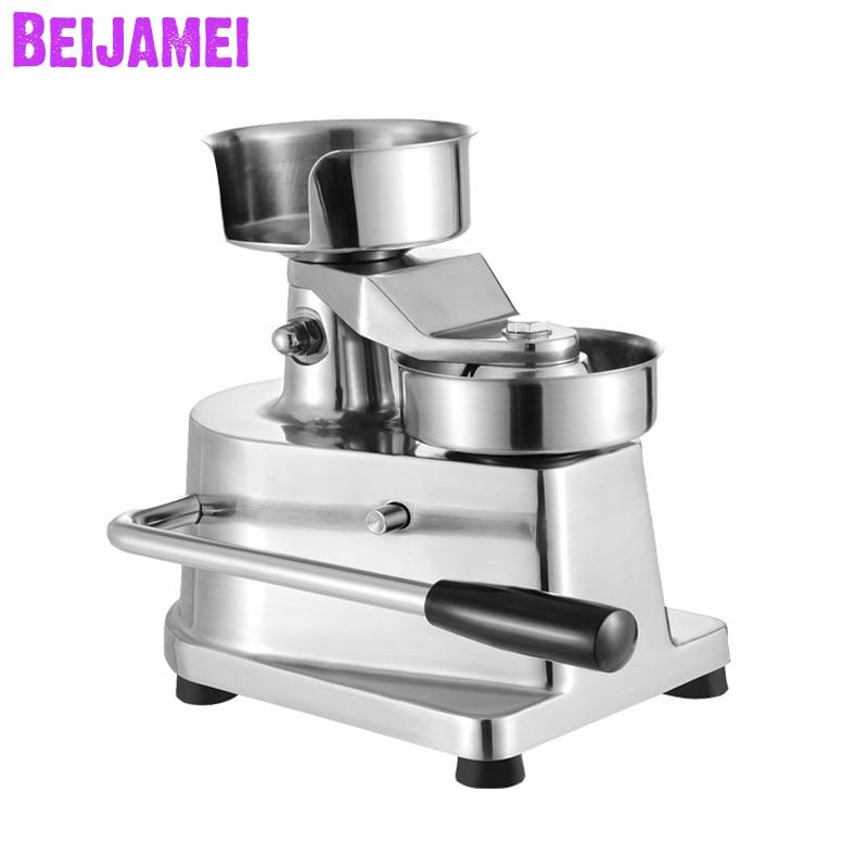 BEIJAMEI Commercial 130/100mm Manual Hamburger Press Burger Forming Machine Round Meat Pie Shaping Machine Hamburger Maker