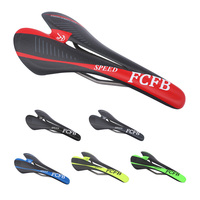 2017 FCFB Carbon Saddle Titanium Bow Road Bike Mountain Road Bicycle Saddle Multicolor Green Red Blue