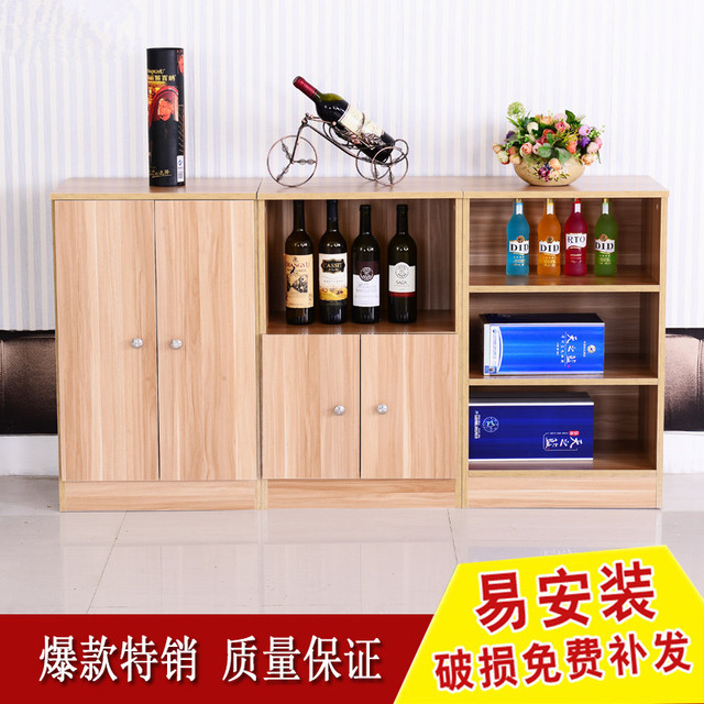 Murah Modern Minimalis Bufet Loker Kabinet Balkon Dapur Microwave Oven Rak Lemari