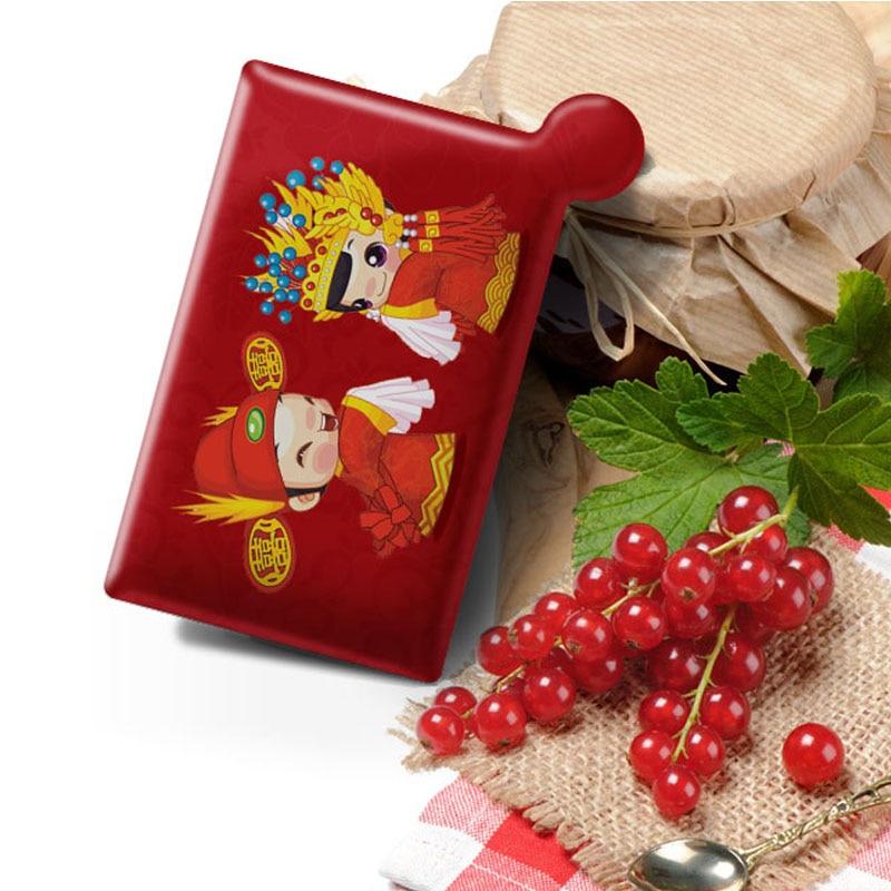 1PCS Mini Portable Mirror Cute Cartoon Small Pocket Makeup Mirror Wedding Gifts Unbreakable Mirror Card Espelho