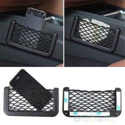 Универсальное автомобильное сиденье боковая Задняя сумка для хранения Сетчатая Сумка для телефона карманный органайзер