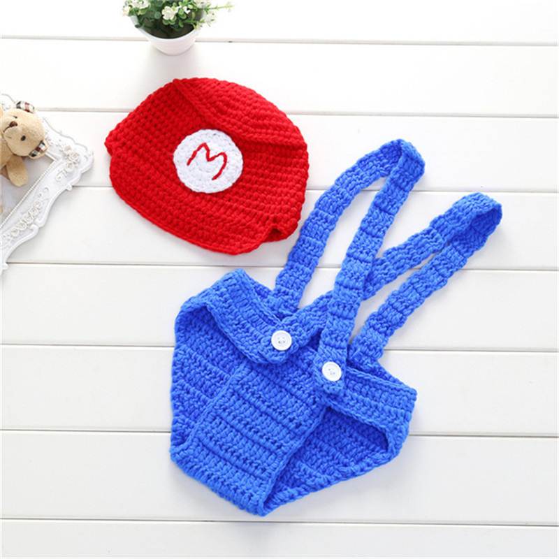 Crochet Baby Hat Bear Handmade Newborn Photography Props Baby Cap Beanie,Infantil Fotografia Accessories Knit Costume Girls Boys