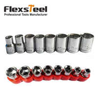 8 Pieces 5-12MM Metric Combination Drive Socket Set CRV Mirror Finished for Home Auto Car Repair Tools