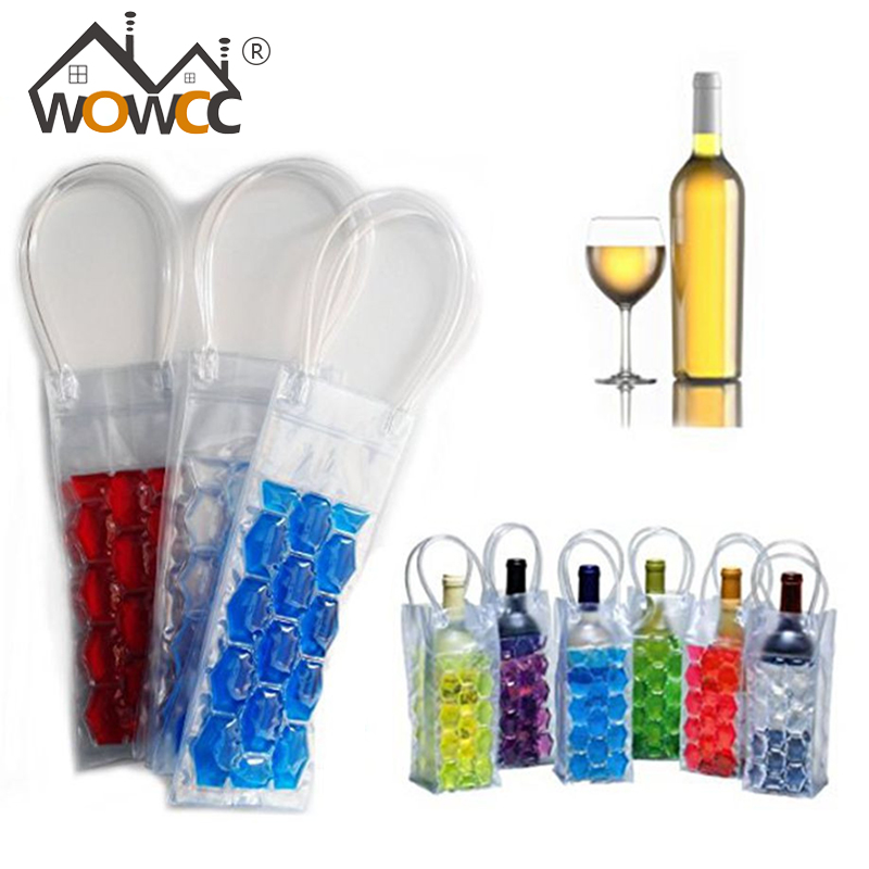 Rapid Ice Wine Cooler PVC Beer Cooler Bag Outdoors Ice Gel Bag Picnic CoolSacks Wine Cooler Chillers Frozen <