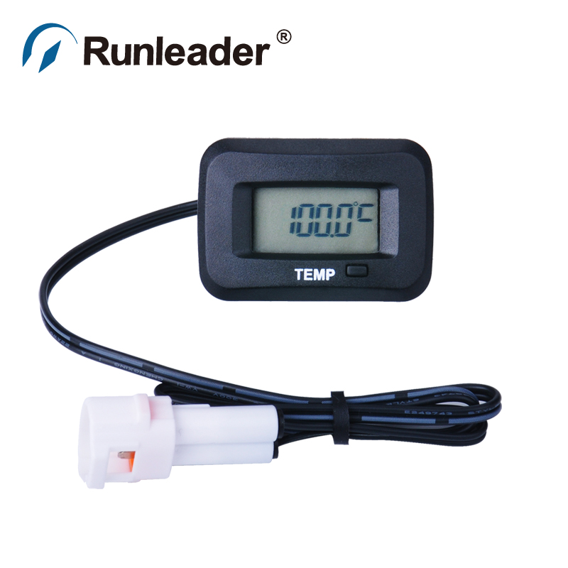 цены RL-TM006 digital Water oil TS002 PT100 -20- +250 TEMP sensor METER thermometer temperature meter for Compressor excavator ATV