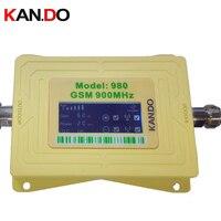 Novo 2017 GSM 980 20dbm ganho 62dbi display LCD telefone impulsionador repetidor GSM repetidor booster  sinal GSM impulsionador gsm booster