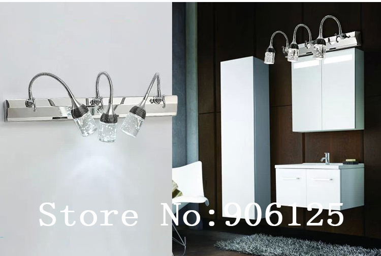 Modern Led Mirror Crystal Wall Lamp,Wall Sconce,Wall Light with Bubble Crystal(4 kinds of size) Guaranteed 100%+Free shipping! modern led wall lamp mirror wall lamp wall light with frosted acrylic shade 5 kinds of size guaranteed 100