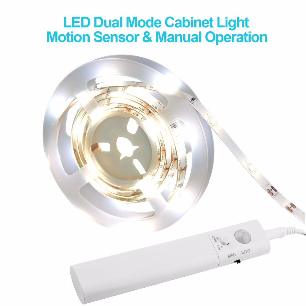 Waterproof Led Night Light Strip Motion Sensor Activated LEDs Nightlight Flexible Bedroom Cabinet Automatic Bed Light DC 6V 1m бра leds c4 bed 05 2831 34 34
