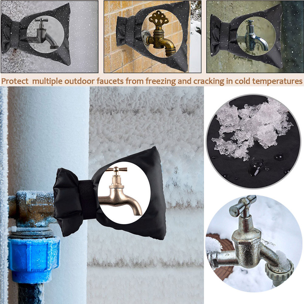 2pcs Faucet Cover Faucet Freeze Protection for Faucet Outdoor Socks ...