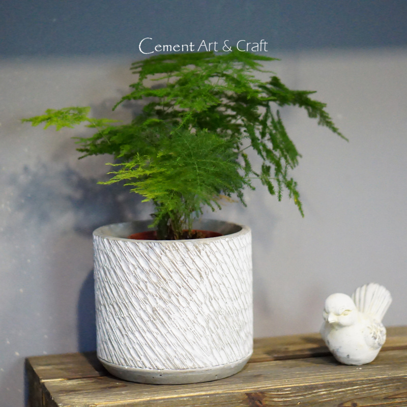 Cylindrical cement flower pot silicone mold green plant succulent concrete flower pot mold home decoration and furnishing mold