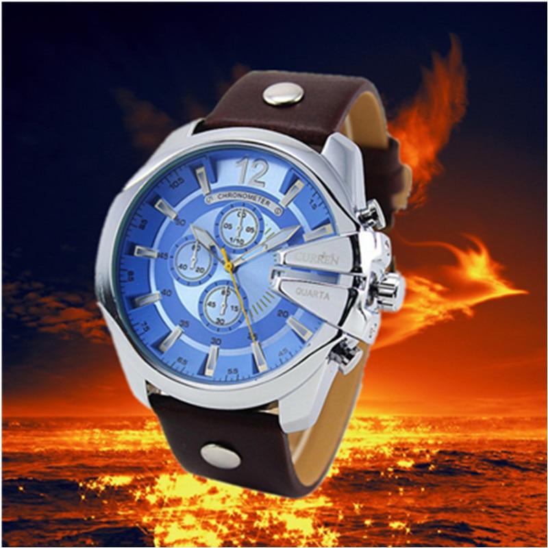 Curren Watch Top Brand Man Watches with Chronograph Sport Waterproof Clock Man Watches Military Luxury Men 39 s Watch Analog Quartz in Quartz Watches from Watches