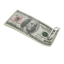 Stainless Steel Metal Multi-Function Men Money Clips Paper Clip Holder Folder Credit Card Portfolio Money Holder Silver Clip