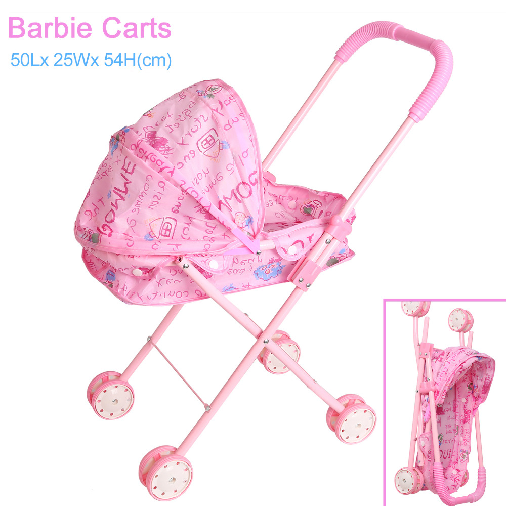 Dolls Accessories Doll Stroller Foldable
