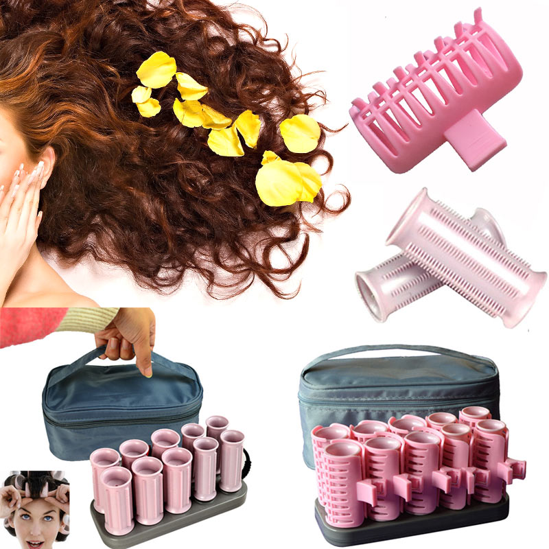 10 Pcs/Set Fashion Curling Irons Electric Roll Hair Tube Heated Roller Hair Curly Styling Sticks Tools High Quality HY99 JU01
