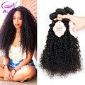 Malasia Kinky Curly Hair Extensions 4 Bundles Grado 8A Venta Armadura Del Pelo Humano Sin Procesar Virginal Malasio Rizado Pelo de la Virgen