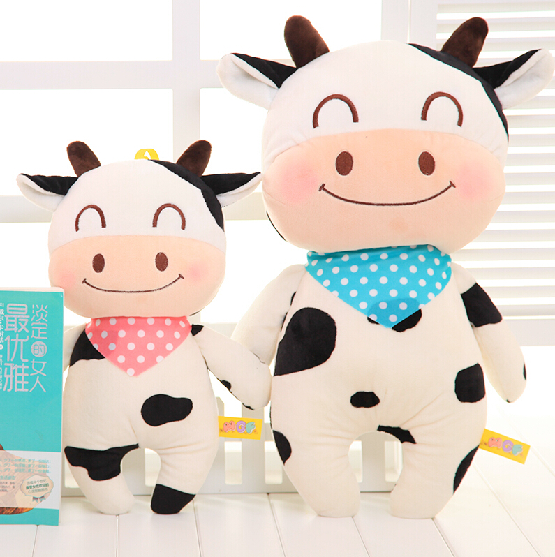 Candice guo happy scarf cartoon milk cow cattle cute creative plush doll pillow stuffed toy children birthday christmas gift 1pc candice guo cute plush toy stuffed doll sitting smiling akita dog puppy doge shiba dress scarf birthday christmas gift 1pc