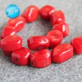 2015 New For Necklace&Bracelet 12-20mm Natural Irregular Red Coral Beads Loose Jasper DIY Beads Stone Jade 15inch Jewelry Making