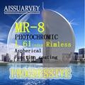Прогрессивная HMC MR-8 1.61 индекс оправы оптические рецепт высокое качество очковых линз специально разработанный Корея стиль синий фиолетовый