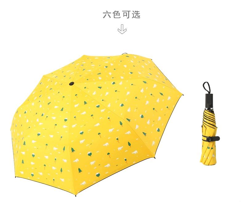 Three Folding Sunscreen Umbrella For Women Sunny Rainy Windproof Anti-UV Umbrella Women Lady Girls Folding Umbrellas (24)