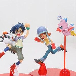 Image 5 - 11cm Digital Digimon Figure ISHIDA YAMATO Gabumon yagami taichi Sora agumon PVC Action Figure Digimon Colletion Model Toy