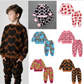 Fashion spring and autumn children's infant clothing baby cotton  french fries set ins male female baby set