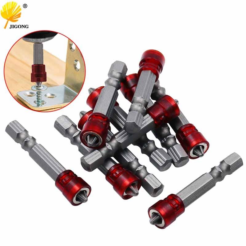 5pcs Single Head Magnetic Screwdriver Bit Anti-Slip Hex S2 PH2 Electric Screw Driver Set For Power Tools
