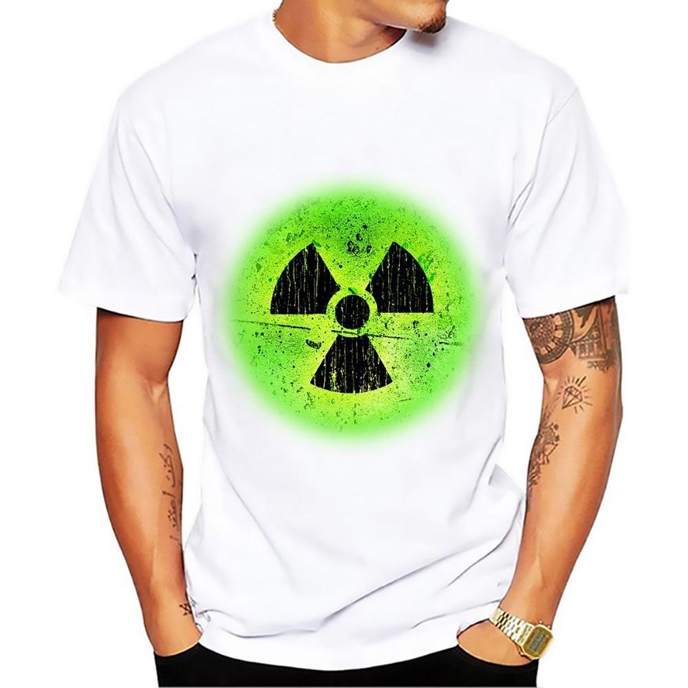 Nuclear Radiation Radioactive Warning Signs Geek T Shirt Men New