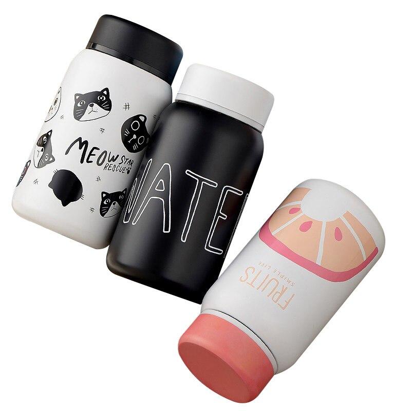 Cartoon thermo cup adulto bambino bottiglia per l'acqua in acciaio steel baby cup thermos bottiglia per il neonato figli adulti di isolamento cup