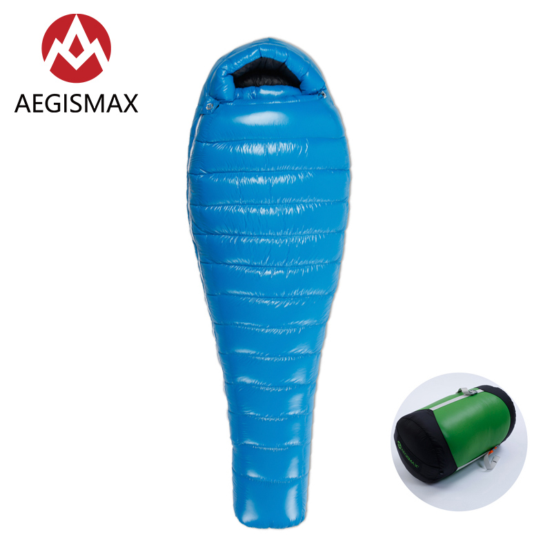 AEGISMAX G серия, уличный походный Сверхлегкий тент, сохраняющий тепло, белый гусиный пух, 800FP, Мумия, тип, пуховый спальный мешок