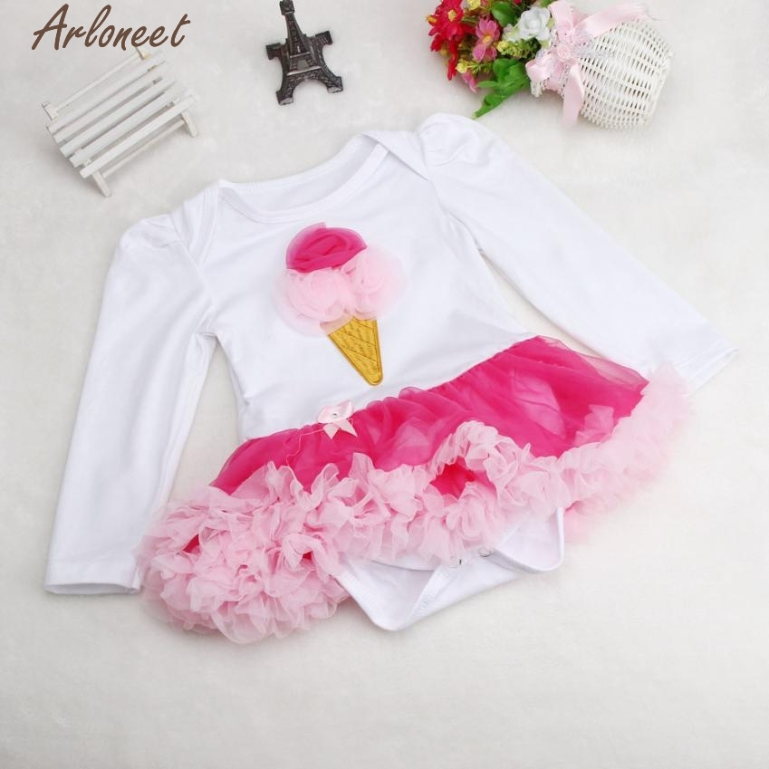 ARLONEET Christmas Pajamas Dress For Baby Girls Newborn Baby Girl Romper Tutu Dress Sets 4Pcs Outfits Clothes Bodysuit &