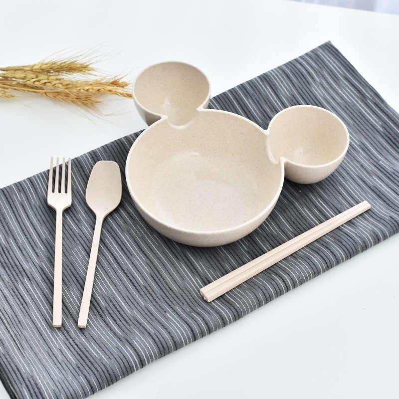 CiDKi плиты Для детей милый мультфильм Мышь Bowl блюда чашка для кормления малыша ужин обед рисовая пища контейнер Коробки для обедов кемпинг