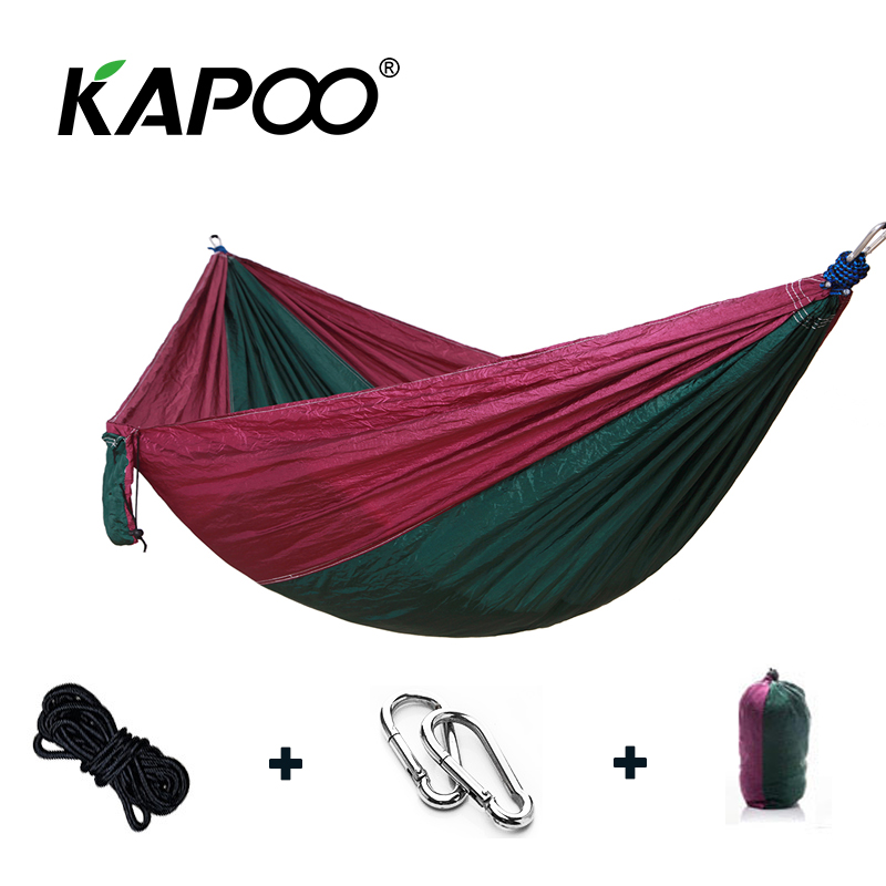 Portable Parachute Single Double Hammock Outdoor Furniture Picnic Mat Camping Hammock Outdoor Hammock Soft Bed Swing Chair blue leisure outdoor hammock portable parachute hammock outdoor furniture single double hammock picnic mat camping hammock