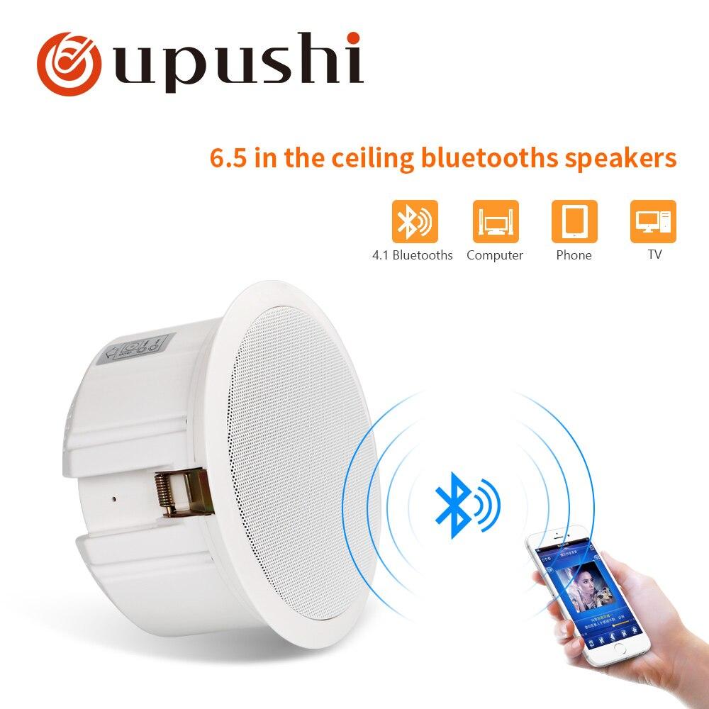 Oupush i bluetooth haut-parleur de plafond 10 w sans fil système de haut-parleur 6.5 pouces stéréo musique mur pa haut-parleur